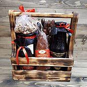 Короб ручной работы. Ярмарка Мастеров - ручная работа Короб для пива из дерева (ящик, мини-бар). Handmade.