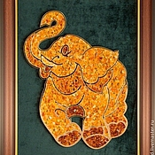 Картины и панно handmade. Livemaster - original item picture from amber