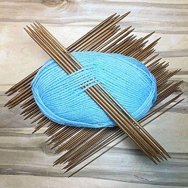 Материалы для творчества ручной работы. Ярмарка Мастеров - ручная работа 25см 2-5мм. Чулочные спицы для вязания. Бамбуковые, набор 55 шт.. Handmade.