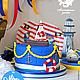 Торт для детского праздника в мосрком пиратском стиле