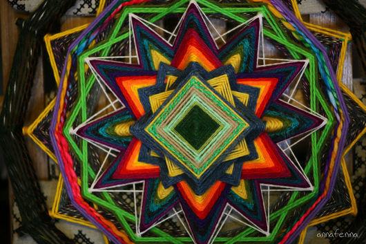 Индейская мандала `Добрые перемены`. Автор - Анна Фенина