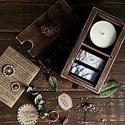 """Косметика ручной работы. Ярмарка Мастеров - ручная работа Подарочный набор """"SPA"""" (свеча и мыло). Handmade."""
