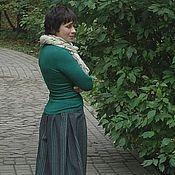Одежда ручной работы. Ярмарка Мастеров - ручная работа Юбка двойная из шерсти и трикотажа. Handmade.