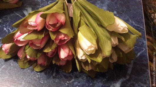 Материалы для флористики ручной работы. Ярмарка Мастеров - ручная работа. Купить Букет тюльпанов. Handmade. Разноцветный, тюльпаны из ткани