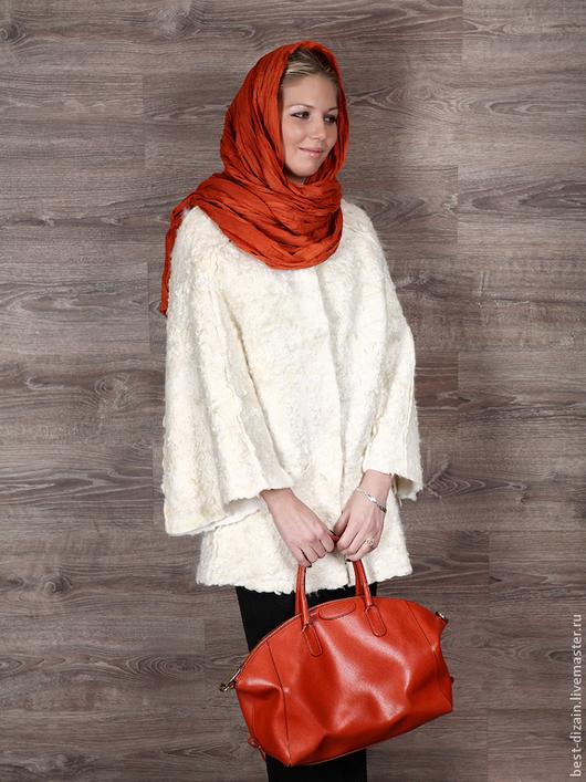 """Верхняя одежда ручной работы. Ярмарка Мастеров - ручная работа. Купить Пальто """"Ledis"""". Handmade. Белый, авторское пальто"""
