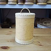 Для дома и интерьера handmade. Livemaster - original item The baskets clean of bark D12. Jar for painting. Handmade.
