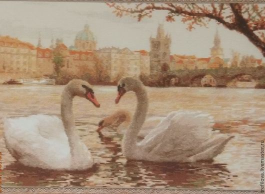 Животные ручной работы. Ярмарка Мастеров - ручная работа. Купить Лебеди. Прага. (сделаю на заказ). Handmade. Разноцветный, Прага