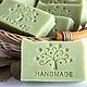 Мыло ручной работы. Ярмарка Мастеров - ручная работа. Купить Натуральное мыло ЛАВР И ОЛИВА. Handmade. Тёмно-зелёный