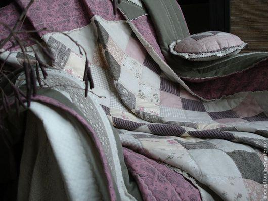 """Текстиль, ковры ручной работы. Ярмарка Мастеров - ручная работа. Купить """"Зимний сон"""" лоскутное покрывало. Handmade. Зима, нежность"""