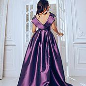 Одежда ручной работы. Ярмарка Мастеров - ручная работа Сиреневое платье шелковое в пол. Handmade.