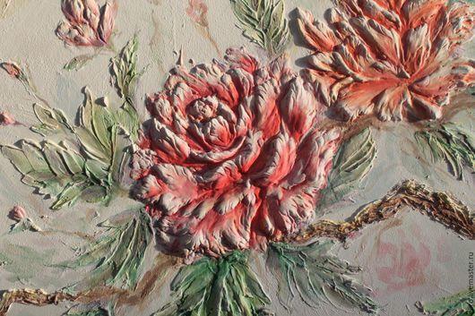Декор поверхностей ручной работы. Ярмарка Мастеров - ручная работа. Купить рельеф на стене роспись стен. Handmade. Рельефная картина