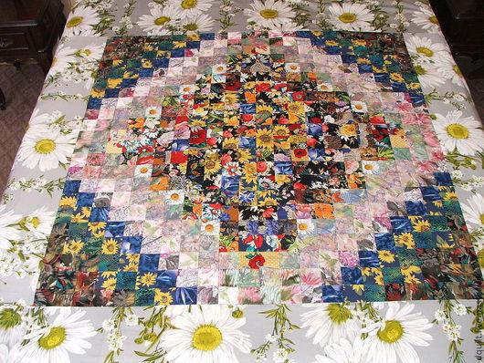 Текстиль, ковры ручной работы. Ярмарка Мастеров - ручная работа. Купить Покрывало  Летний день. Handmade. Покрывало, ромашки, сатин