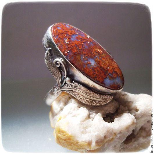 """Кольца ручной работы. Ярмарка Мастеров - ручная работа. Купить Агат венгерский кольцо """"Перо"""". Handmade. Комбинированный, самоцветы"""