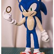 Войлочная игрушка ручной работы. Ярмарка Мастеров - ручная работа Игрушки из шерсти: Sonic. Handmade.