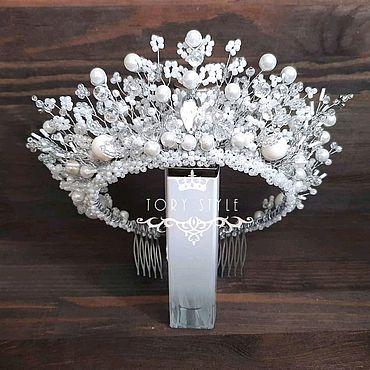 Украшения ручной работы. Ярмарка Мастеров - ручная работа Белая корона ручной работы, диадема для невесты, детская корона, тиара. Handmade.