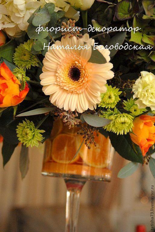 Свадебные цветы ручной работы. Ярмарка Мастеров - ручная работа. Купить Мандариновая свадьба. Handmade. Свадьба, невеста, декоративные материалы