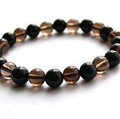 Фен-шуй и эзотерика handmade. Livemaster - original item Bracelet amulet black onyx with Topaz. Handmade.