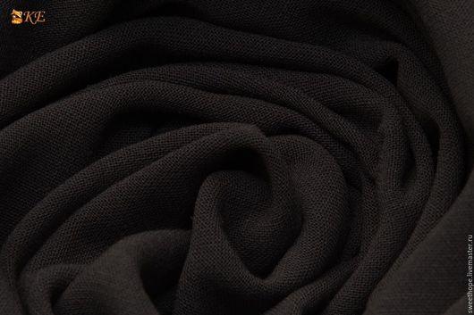 Шитье ручной работы. Ярмарка Мастеров - ручная работа. Купить Необычная двухслойная смесовая костюмка.. Handmade. Припыленный черный, шелк