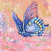 """Картины ручной работы. Ярмарка Мастеров - ручная работа Картина """" Легкость порхающей бабочки """". Handmade."""