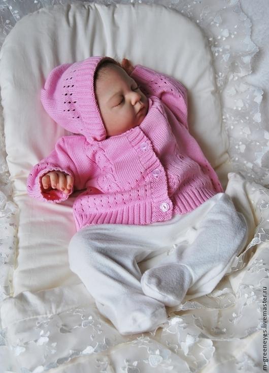 """Для новорожденных, ручной работы. Ярмарка Мастеров - ручная работа. Купить Комплект из 2-х предметов """"Доченька"""". Handmade. Розовый"""