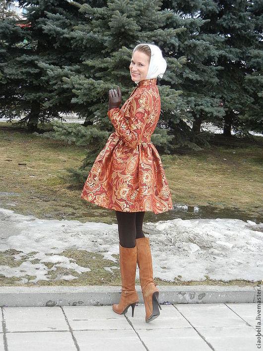 """Верхняя одежда ручной работы. Ярмарка Мастеров - ручная работа. Купить Пальто """"Imperatrice"""", весна/осень. Handmade. Цветочный, Нарядное пальто"""