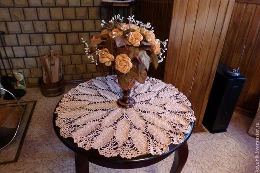 Текстиль, ковры ручной работы. Ярмарка Мастеров - ручная работа. Купить Салфетка крючком,  вязаная 062. Handmade. Салфетка крючком