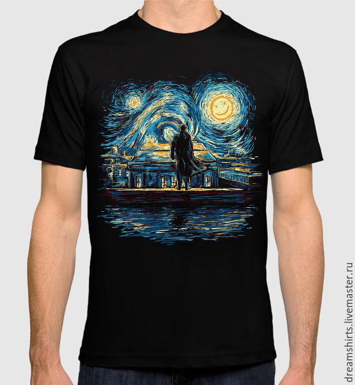 """Футболка с принтом """"Звездная Ночь Шерлока"""", T-shirts, Moscow,  Фото №1"""