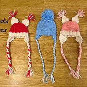 Куклы и игрушки ручной работы. Ярмарка Мастеров - ручная работа шапочки вязаные для кукол. Handmade.