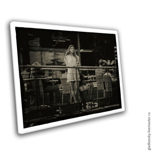 Фотокартины ручной работы. Ярмарка Мастеров - ручная работа. Купить В ожидании. Handmade. Чёрно-белый, под старину, задумчивость