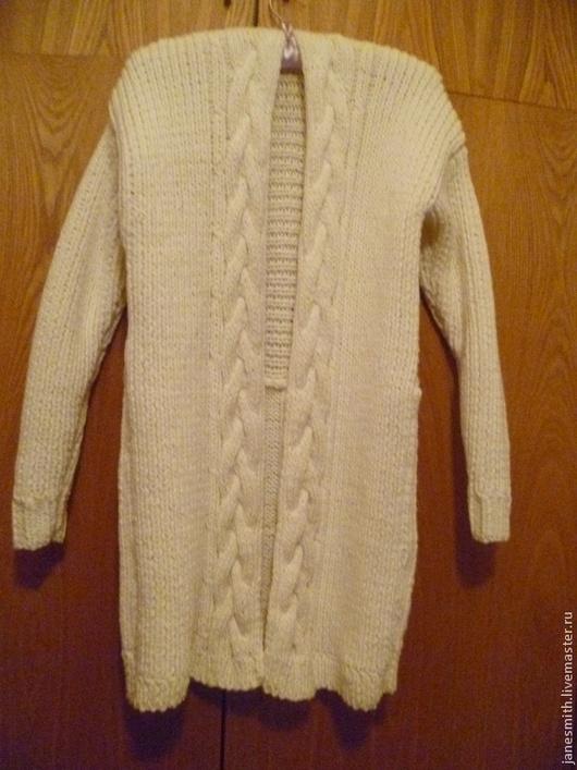 Пиджаки, жакеты ручной работы. Ярмарка Мастеров - ручная работа. Купить вязаный кардиган. Handmade. Белый, вязаная кофта