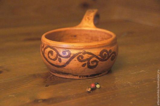 Посуда ручной работы. Ярмарка Мастеров - ручная работа. Купить жюльенница. Handmade. Коричневый, лощеная керамика, глина красная