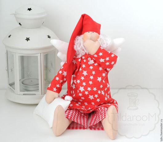 Сонный Ангел Тильда. Кукла Тильда. Авторская ручная работа. Мастерская `Tildaroom` (Люба Морозова) ©
