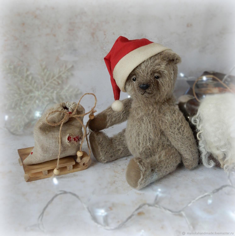 Новогодний Тедди 28 см, Мишки Тедди, Москва,  Фото №1