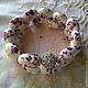 """Браслеты ручной работы. Ярмарка Мастеров - ручная работа. Купить Двойной браслет на резинке """"Милые цветочки"""". Handmade. Разноцветный, спандекс"""