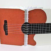 Блокноты ручной работы. Ярмарка Мастеров - ручная работа Блокнот Гитара. Handmade.