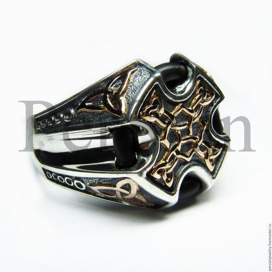 """Украшения для мужчин, ручной работы. Ярмарка Мастеров - ручная работа. Купить НОВИНКА! Мужской перстень в кельтском стиле """"Трикветр"""". Handmade."""