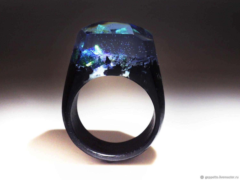 Wooden ring 'Enchanted Kingdom', Rings, Kostroma,  Фото №1