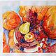 Натюрморт ручной работы. Осенние тыквы. K&ART. Ярмарка Мастеров. Рыжие тыквы, кухня, овощи