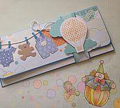 Открытки ручной работы. Ярмарка Мастеров - ручная работа Денежный конверт для малыша. Handmade.