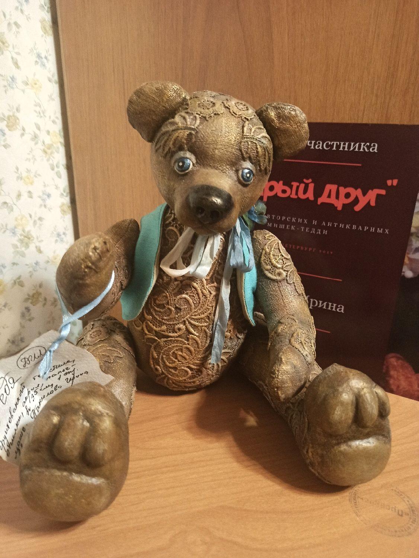Мишка из грунтованного текстиля, Мишки Тедди, Санкт-Петербург,  Фото №1