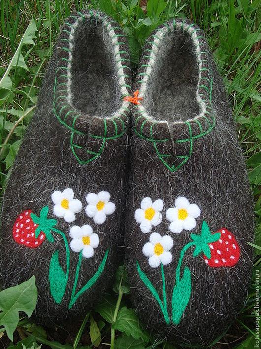 Обувь ручной работы. Ярмарка Мастеров - ручная работа. Купить Валяные тапочки. Handmade. Тапочки, валенки, домашняя обувь