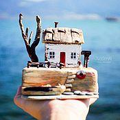 """Для дома и интерьера ручной работы. Ярмарка Мастеров - ручная работа Морская композиция """"Хижина рыбака"""" driftwood. Handmade."""