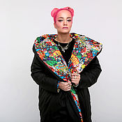 Одежда handmade. Livemaster - original item Double sided jacket-cocoon (blanket)