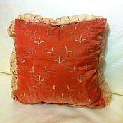 """Подушки ручной работы. Ярмарка Мастеров - ручная работа Винтажная подушка """"Рыжее золото"""". Handmade."""