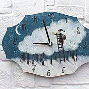 Для дома и интерьера handmade. Livemaster - original item Wall Clock Stargazer Hand Painted. Handmade.