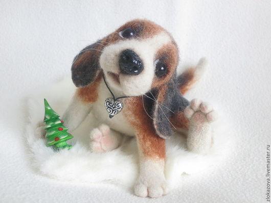 Куклы и игрушки ручной работы. Ярмарка Мастеров - ручная работа. Купить щенок породы Бигль. Handmade. Собаки, собака из шерсти