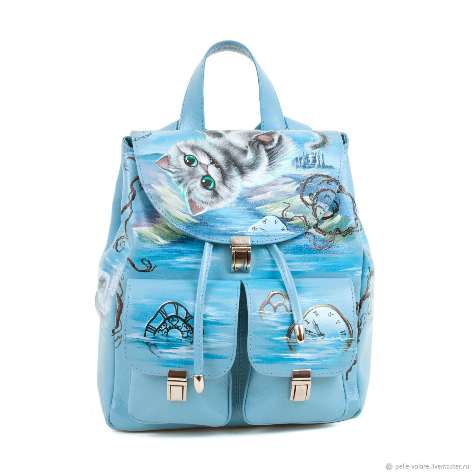 Women's backpack 'the Little Cheshire', Backpacks, St. Petersburg,  Фото №1