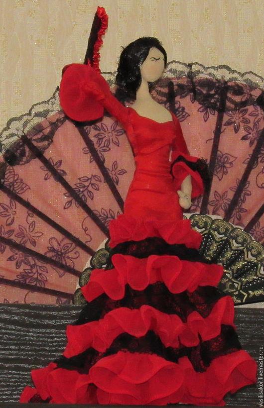 Коллекционные куклы ручной работы. Ярмарка Мастеров - ручная работа. Купить Танцовщица фламенко - Изабелла.Кукла в стиле тряпиенс.. Handmade.