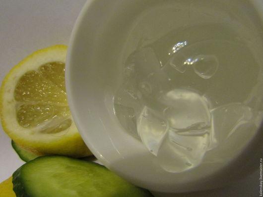 Крем, гель, сыворотка ручной работы. Ярмарка Мастеров - ручная работа. Купить Лимонный гель для лица (отбеливающий) с огуречным маслом. Handmade.