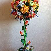 Цветы и флористика ручной работы. Ярмарка Мастеров - ручная работа Топиарий Оранжевое настроение - большой. Handmade.